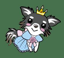 Long coat Chihuahua sticker #421647