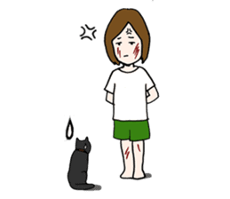 A cat and me sticker #423652