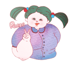 Big girls sticker #423765