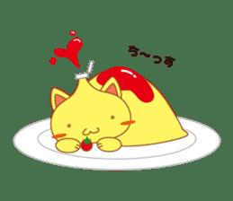 omelet cat sticker #424929