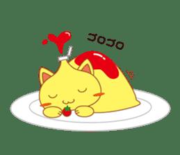 omelet cat sticker #424930