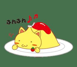 omelet cat sticker #424931