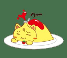 omelet cat sticker #424932