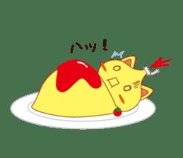 omelet cat sticker #424936