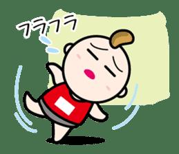 Marathon runner sticker #426485