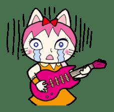 Cat Guitar sticker #426491