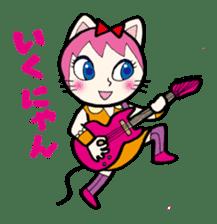 Cat Guitar sticker #426493