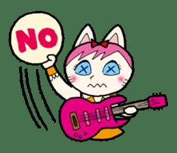 Cat Guitar sticker #426495