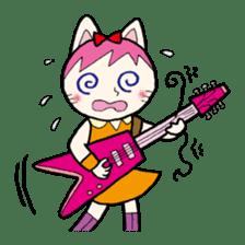 Cat Guitar sticker #426503