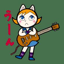 Cat Guitar sticker #426506