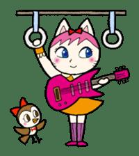 Cat Guitar sticker #426509