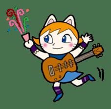 Cat Guitar sticker #426525