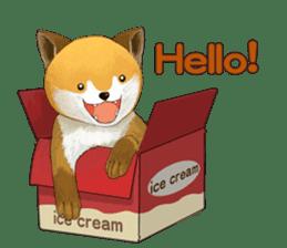 dog and ice cream sticker #426769