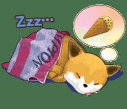 dog and ice cream sticker #426778