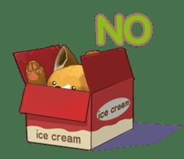 dog and ice cream sticker #426791