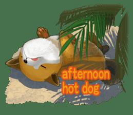 dog and ice cream sticker #426797