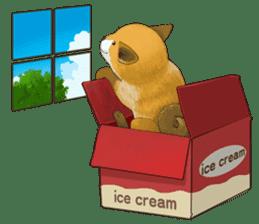 dog and ice cream sticker #426804