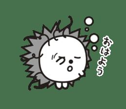 "Hedgehog""Bug""-Greeting sticker #428729"