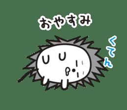 "Hedgehog""Bug""-Greeting sticker #428730"