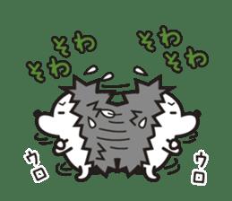 "Hedgehog""Bug""-Greeting sticker #428751"