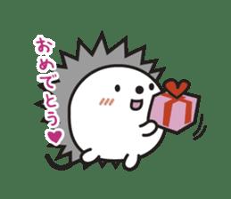 "Hedgehog""Bug""-Greeting sticker #428755"