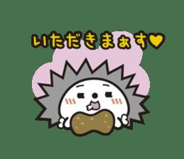 "Hedgehog""Bug""-Greeting sticker #428761"
