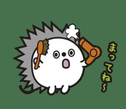 "Hedgehog""Bug""-Greeting sticker #428765"