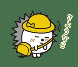 "Hedgehog""Bug""-Greeting sticker #428767"
