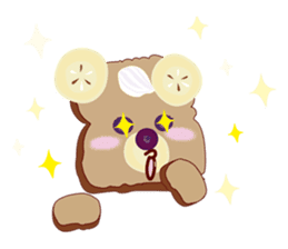 Toast Bear sticker #428893