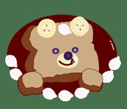 Toast Bear sticker #428896