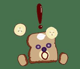 Toast Bear sticker #428897