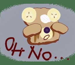 Toast Bear sticker #428899
