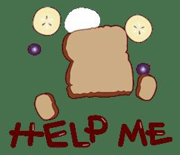 Toast Bear sticker #428900
