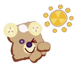 Toast Bear sticker #428901