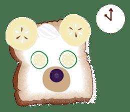 Toast Bear sticker #428907