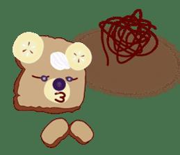 Toast Bear sticker #428910