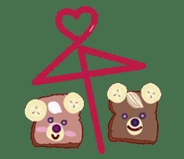 Toast Bear sticker #428911