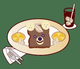 Toast Bear sticker #428914
