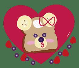 Toast Bear sticker #428921