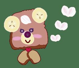 Toast Bear sticker #428923