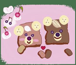 Toast Bear sticker #428924