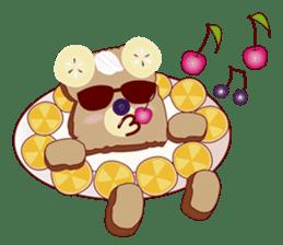 Toast Bear sticker #428928