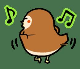 Cute sparrow, Chunta sticker #429414