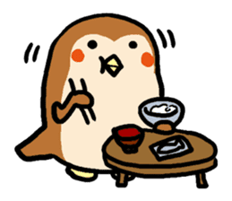 Cute sparrow, Chunta sticker #429433