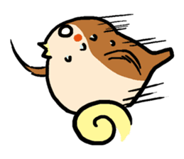 Cute sparrow, Chunta sticker #429445