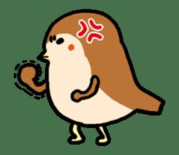 Cute sparrow, Chunta sticker #429446