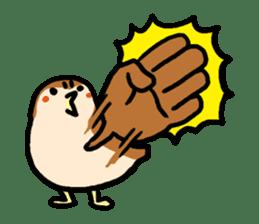 Cute sparrow, Chunta sticker #429448