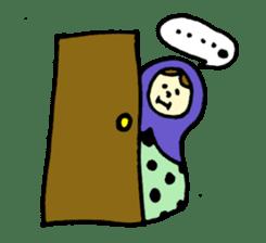 chating matryoshka doll sticker #430330