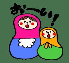 chating matryoshka doll sticker #430340