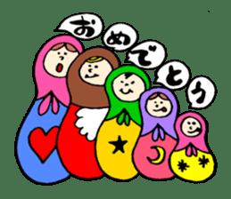 chating matryoshka doll sticker #430341